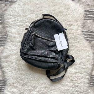 Urban Originals Vegan Leather Mini Backpack Black